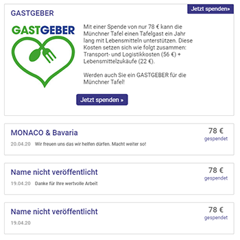 Gastgeber Tafel München MONACO & Bavaria