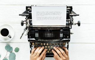 Schreibmaschine Tippen