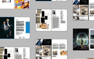 Zeitschriften Satz Design
